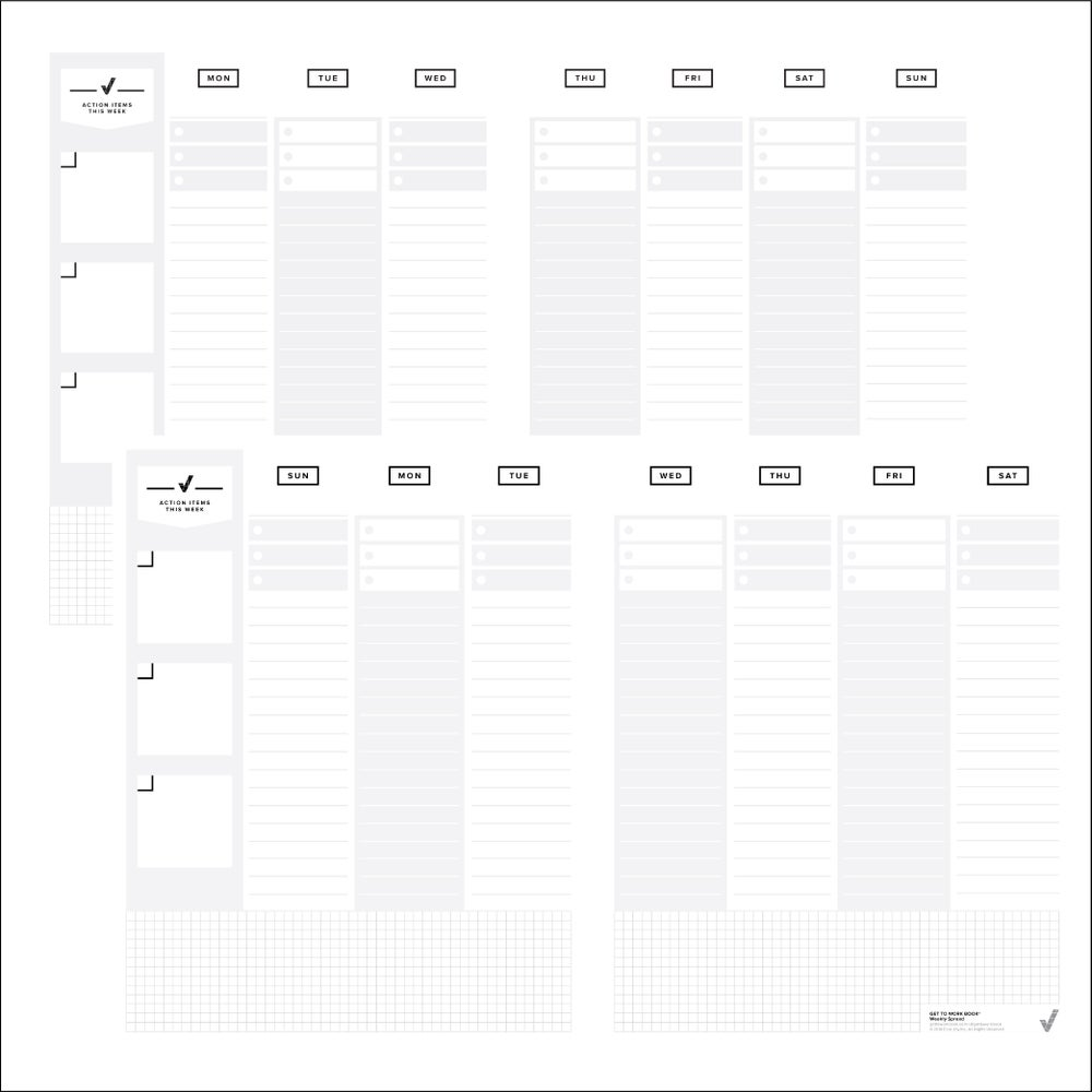 Image of PRINTABLE WEEKLY SPREAD layout