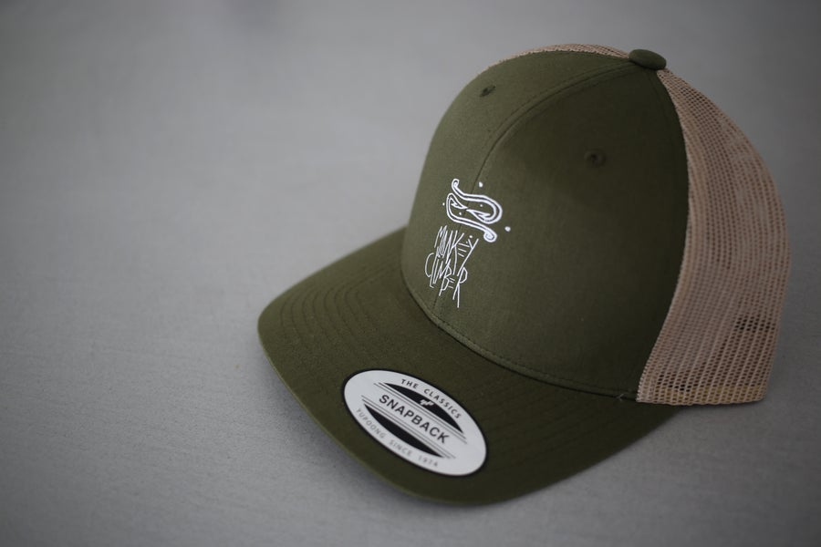 Image of Monkey Climber Off The Hook Trucker Cap I Olive