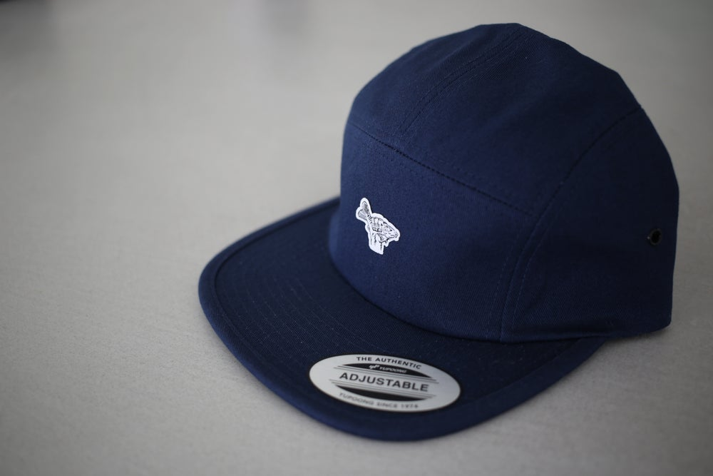 Image of Monkey Climber Carp Shaka 5 panel cap I Navy Blue - Deep Red