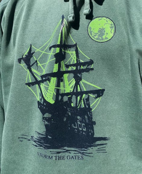 Image of GHOST SHIP HOODED SWEATSHIRT