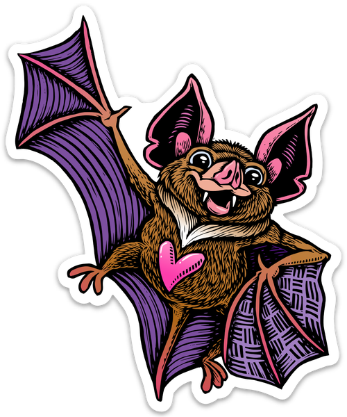 Image of Cute Bat Sticker