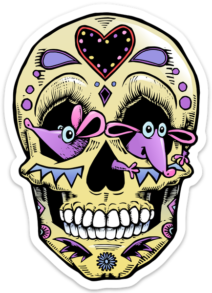 Image of Mouse-eyed Sugar Skull Sticker