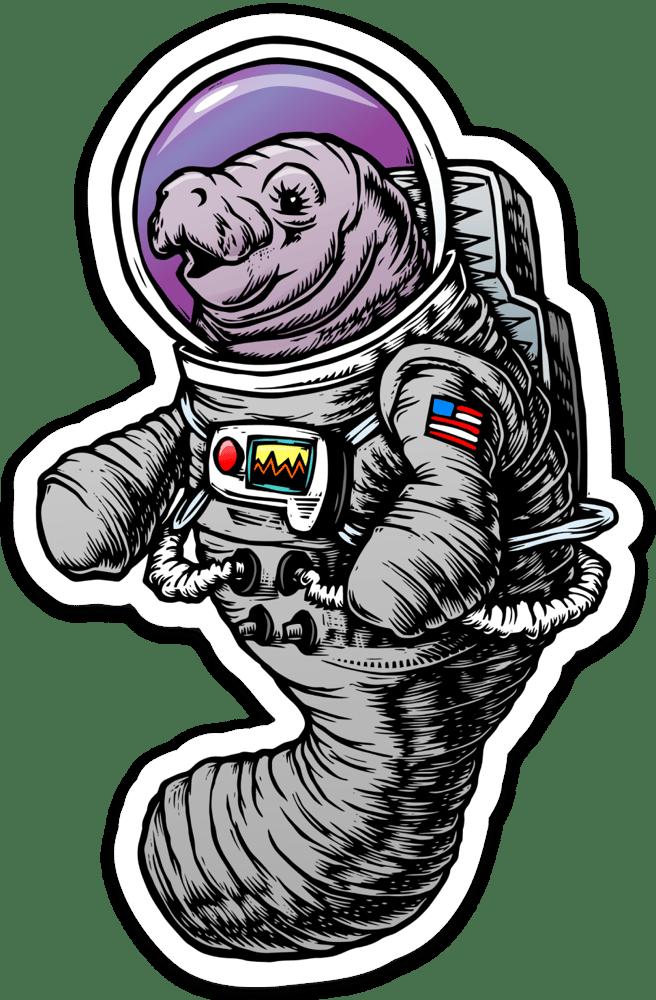 Image of Astronaut Manatee Sticker