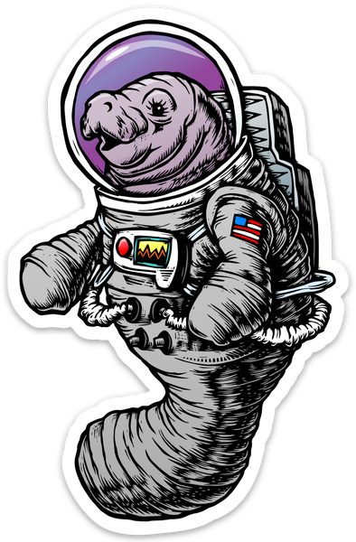 Image of Astronaut Manatee Sticker