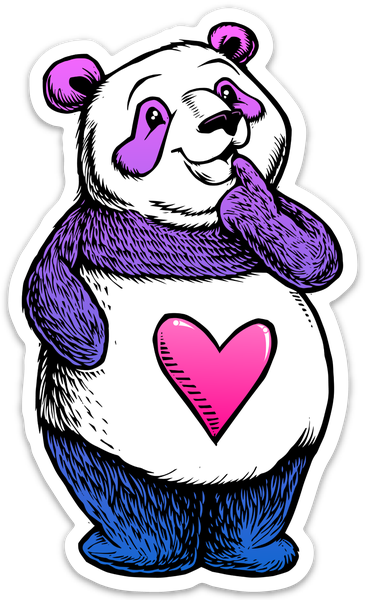 Image of Cute Thinking Panda Sticker