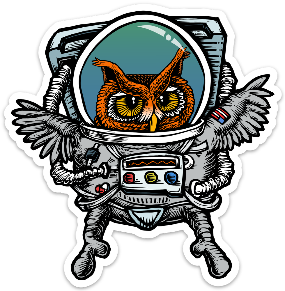 Image of Owlstronaut Sticker