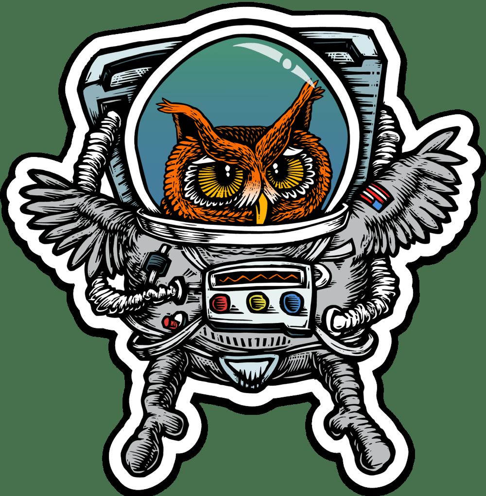 Owlstronaut Sticker