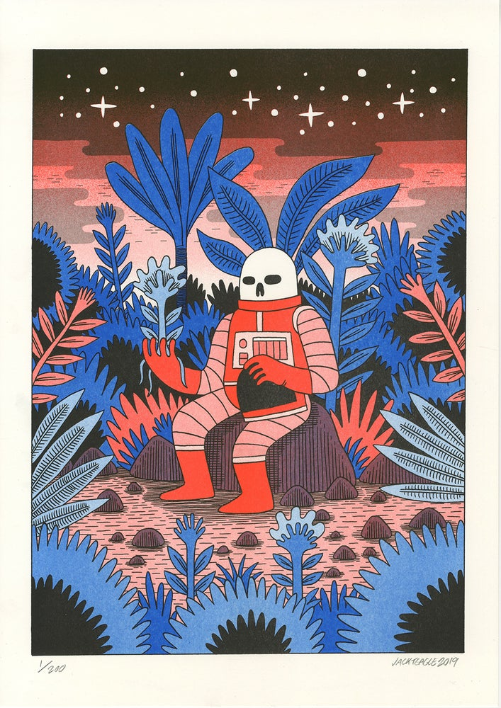 Image of Second Cycle - A3 Risograph Print