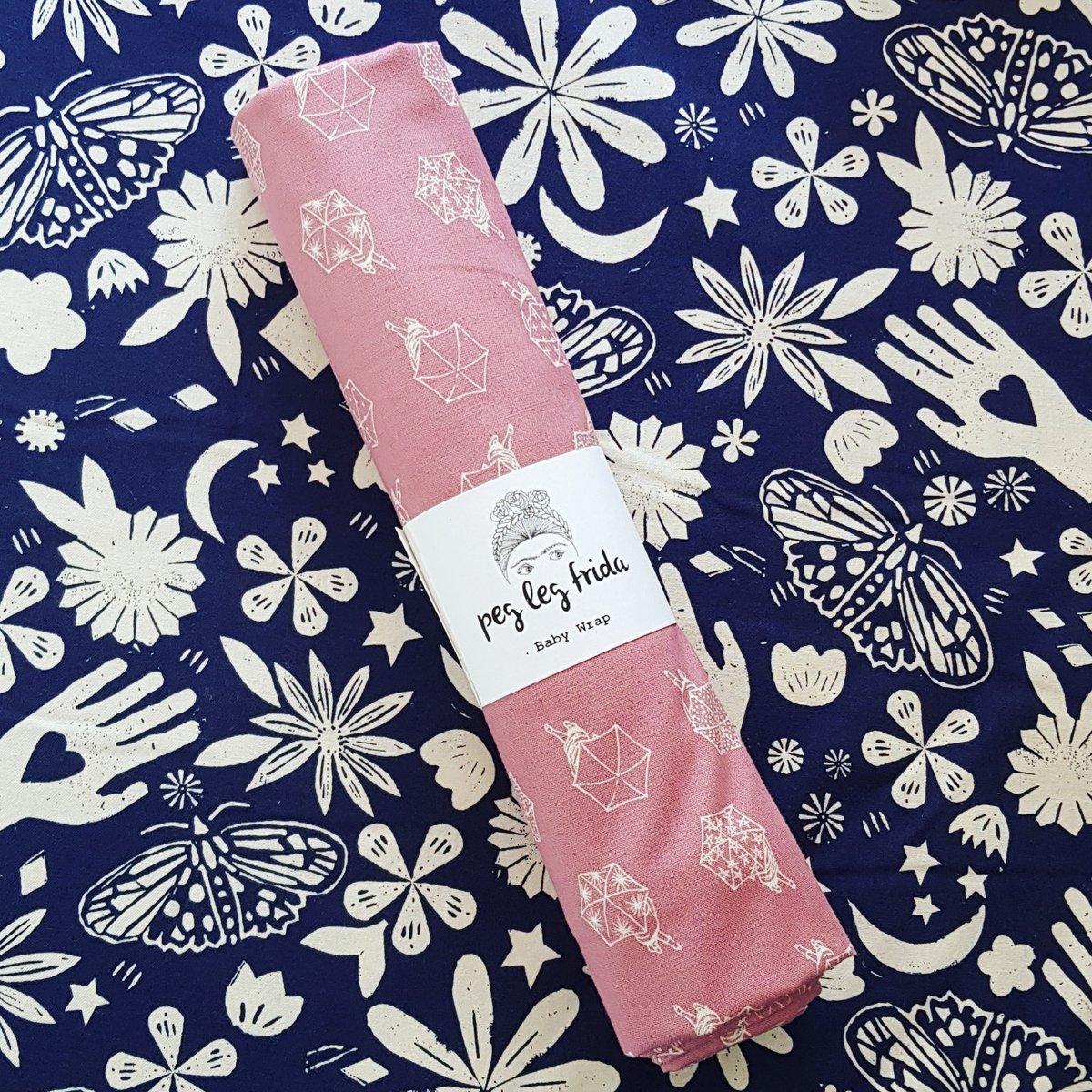 Image of Woven Baby Wrap - Umbrellas