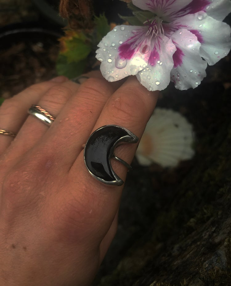 Image of ~ 'The Dark Moon' ~ Onyx Ring