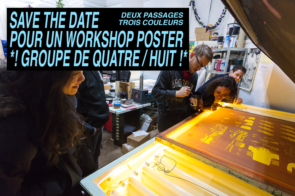Image of WORKSHOP INITIATION SÉRIGRAPHIE