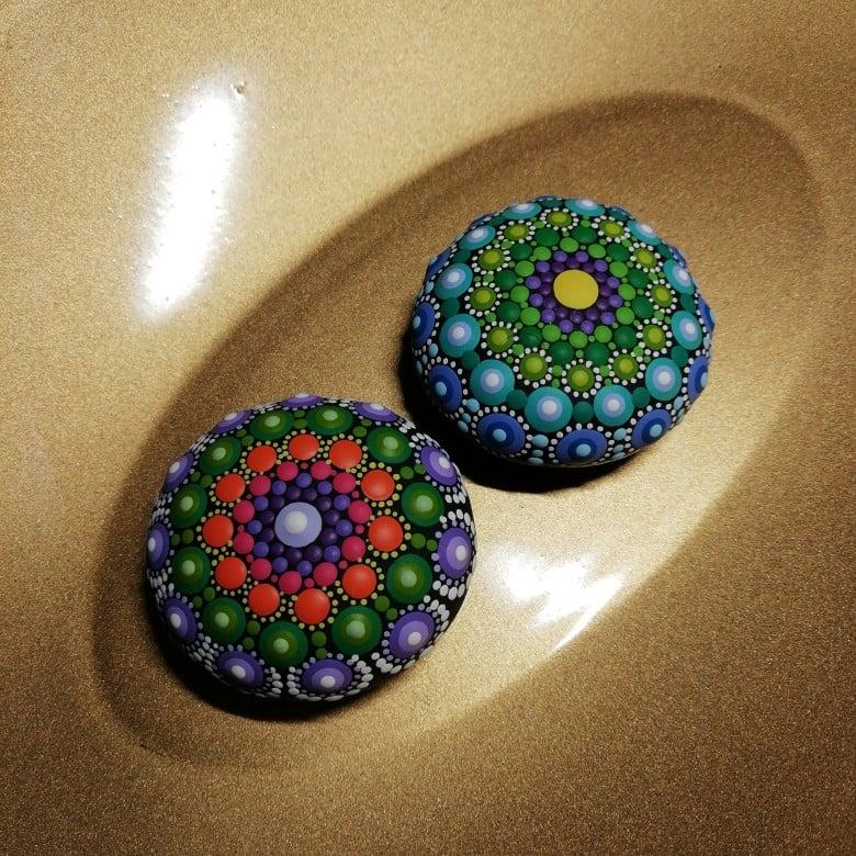 Image of Set of 2 Mini Mandala Stone  by Alberto Martin