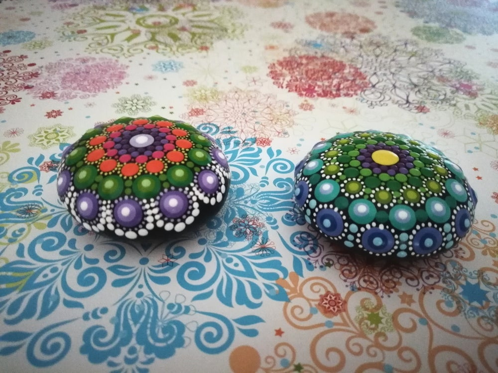 Image of Set of 2 Mini Mandala Stone  by Alberto Martin