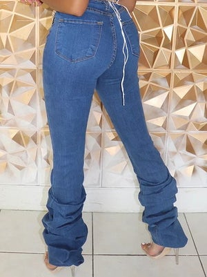 "Image of ""Rich Rich"" Ruched Denim Jeans"