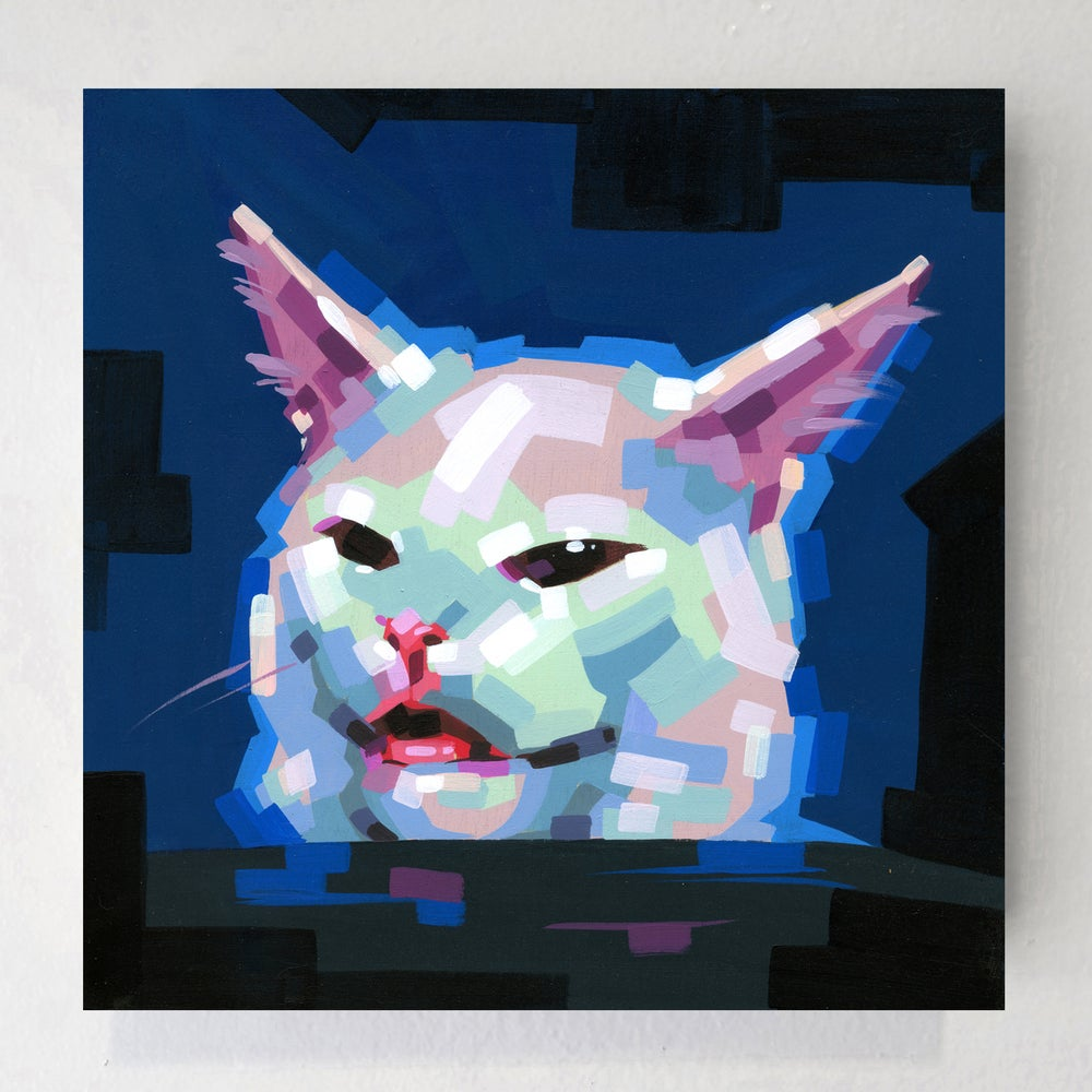 Image of Table Cat - Original Painting
