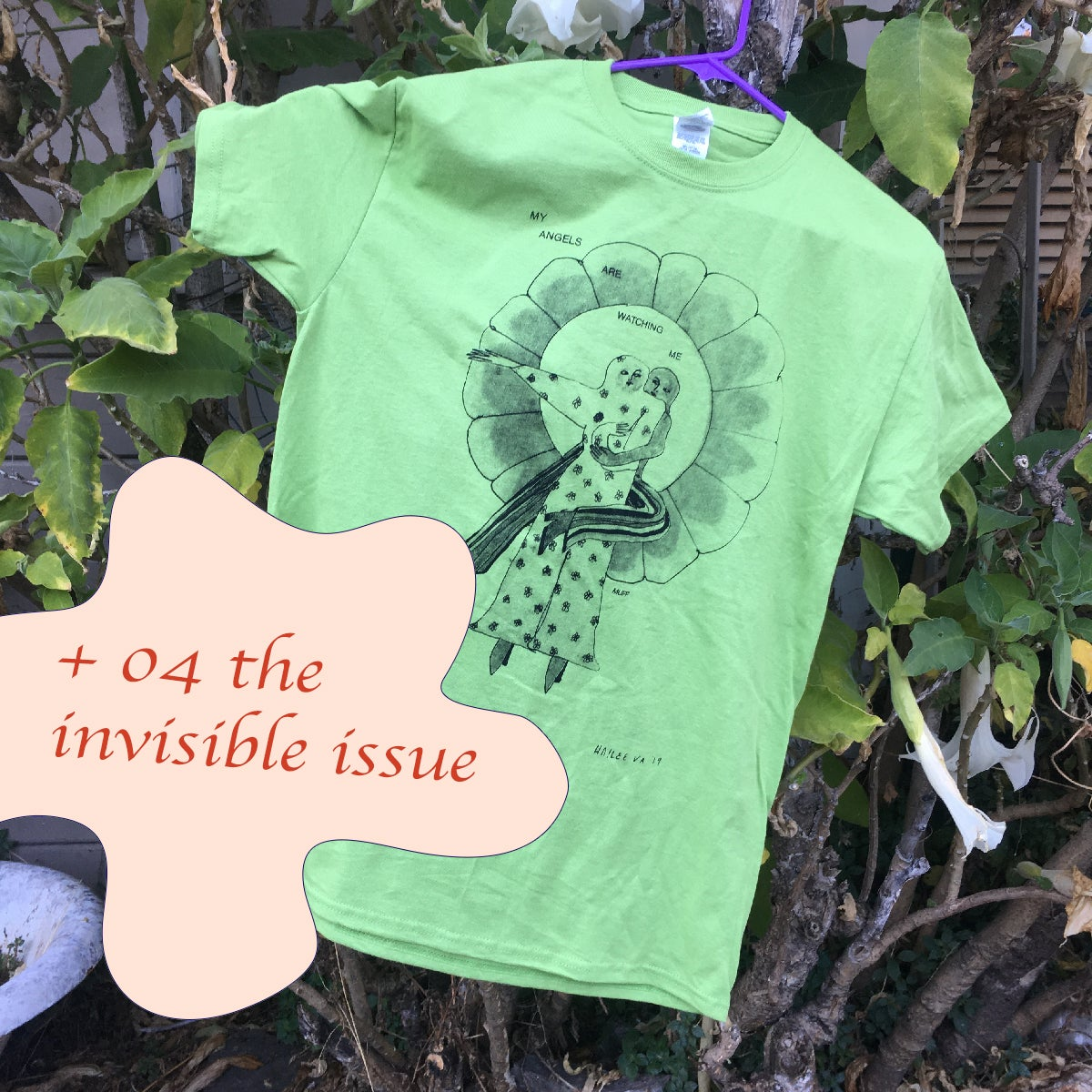 Image of angels are watching me gift set (tee + issue 4)