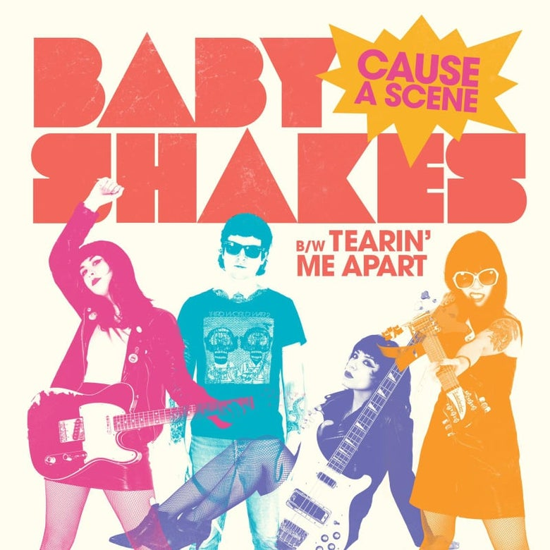 "Image of NEW: BABY SHAKES ""CAUSE A SCENE / TEARIN ME APART"" 7"" - 2ND PRESS on PURPLE WAX(2020)"