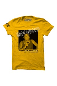 Image of Meiko Satomura Gold Joshi Strong Style T-Shirt