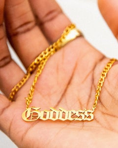 Image of YELLOW GOLD GODDESS NECKLACE | EXCLUSIVE RELEASE