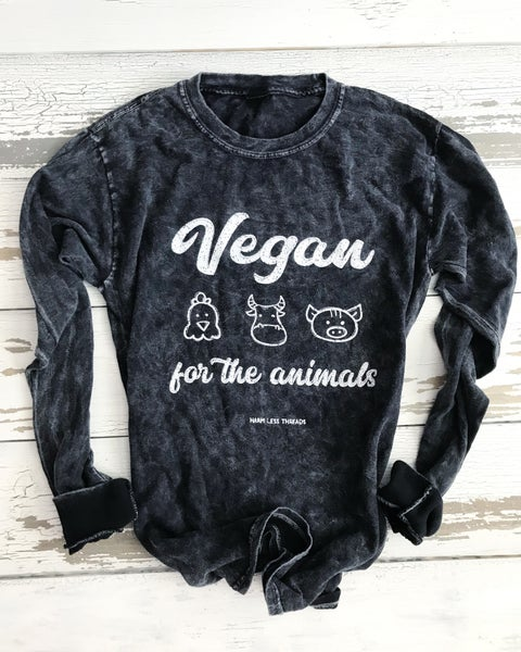 Image of Vegan for the animals unisex long sleeve (pre-order)