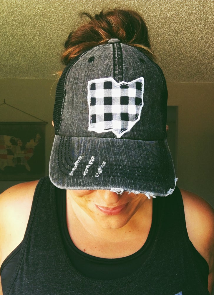 Image of Custom State Patch ponytail hat