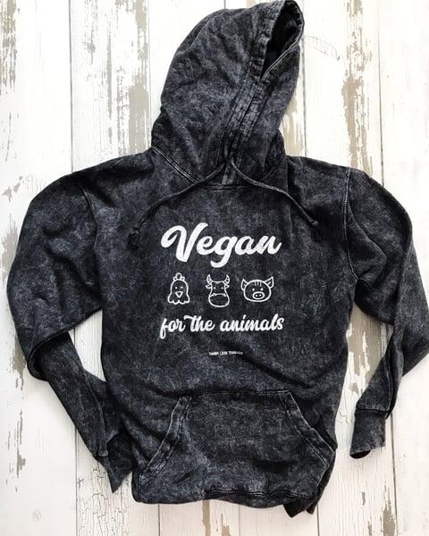 Image of Vegan for the animals unisex hoodie