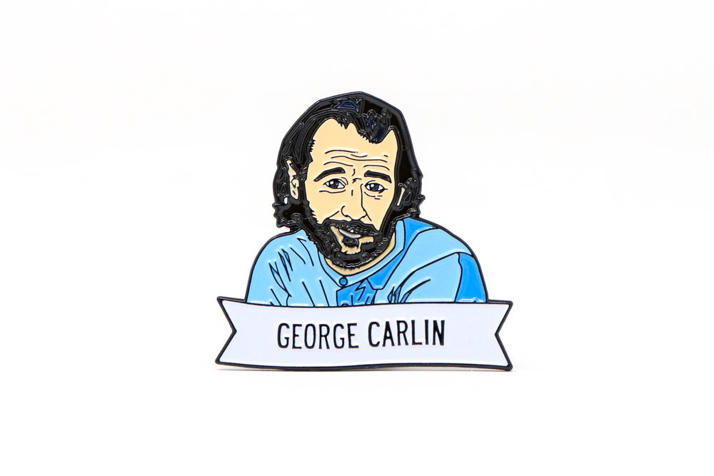 Image of George Carlin Enamel Pin