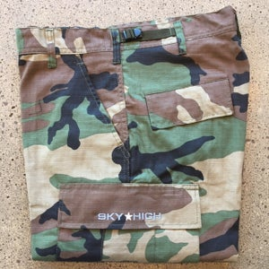 Image of Sky High Tactical Six Pocket Cargo Pants Woodland Camo (Riptstop)