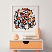 Image of MIX MASH UP ART PRINT  123KLAN