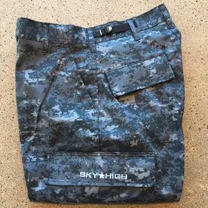 Image of Sky High Tactical Six Pocket Cargo Pants Blue Digi Camo