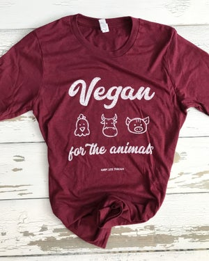 Image of Vegan for the animals unisex tee