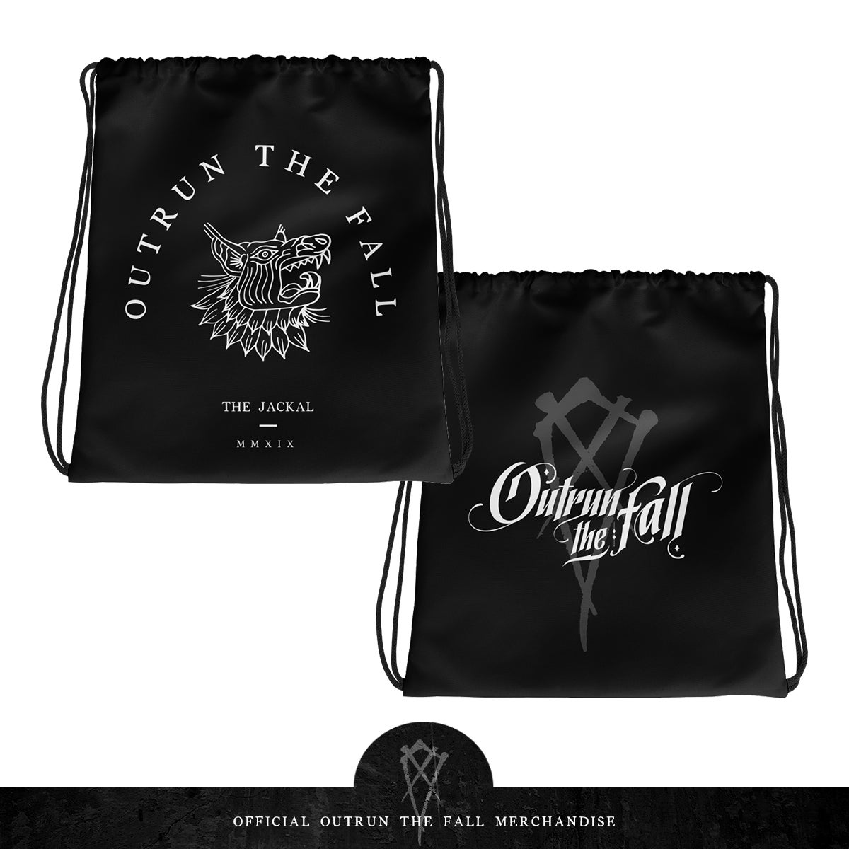 "Image of Outrun The Fall | Drawstring Bag 15"" x 17"""