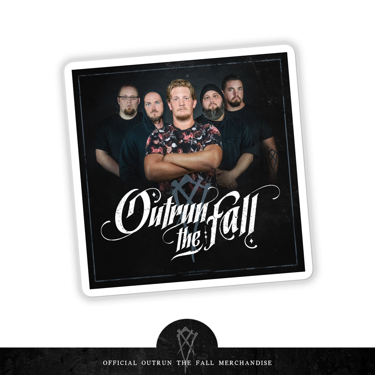 "Image of Outrun The Fall | Promo Sticker 4"" x 4"""