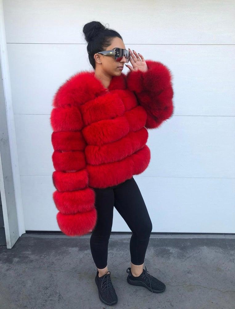 Image of Simone Fox Fur Bomber