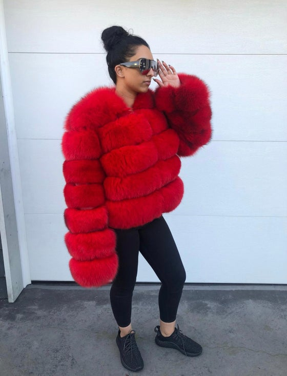 Image of Simone Fox Fur Bomber