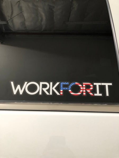 Image of AMERICAN FLAG WORKFORIT DECAL
