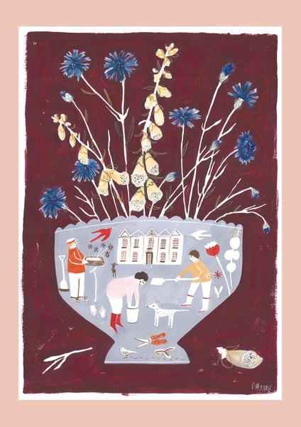 Image of A3 Stately Garden Vase print