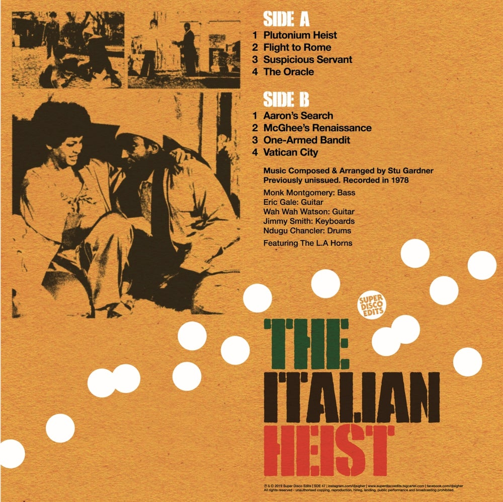 The Italian Heist Soundtrack lp