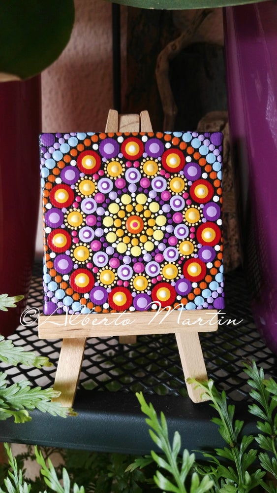 Image of Mandala Mini Canvas 10 by Alberto Martin
