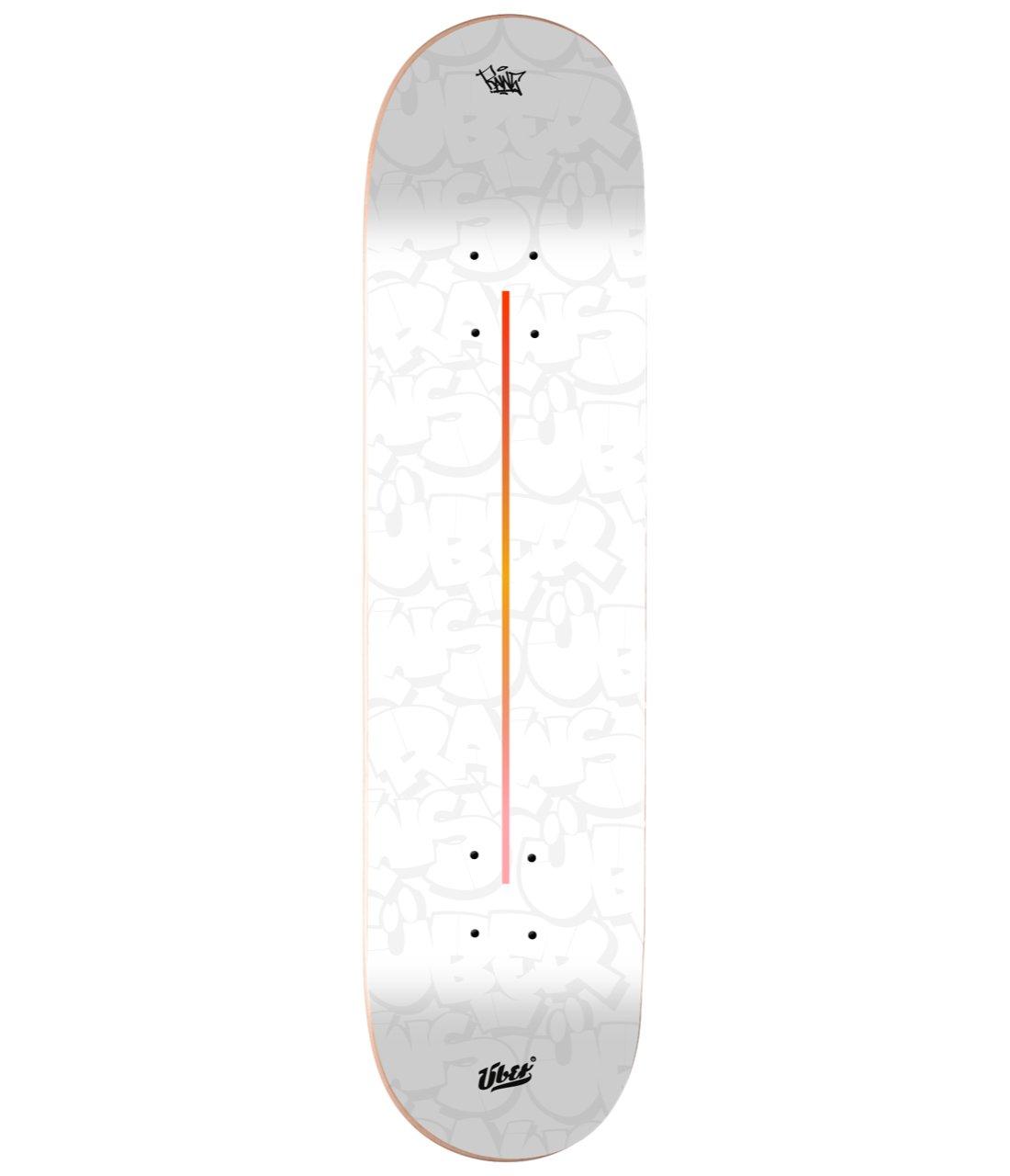 Image of RAWS X ÜBER | Skatedeck (White) SIGNED BY RAWS