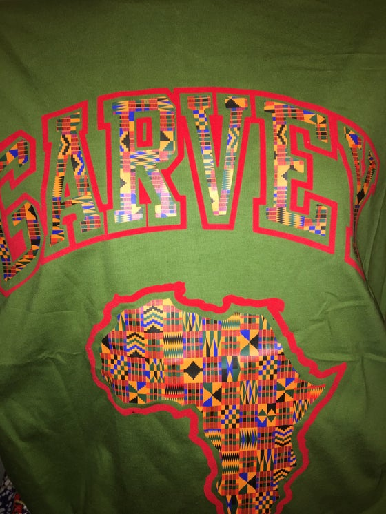 Image of GARVEY KENTE RED FLOCK TSHIRT
