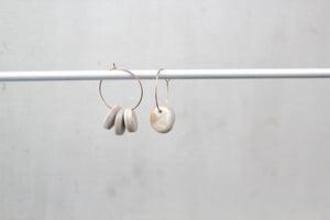 Image of Zuri // Pearl White Clay Hoop Earrings
