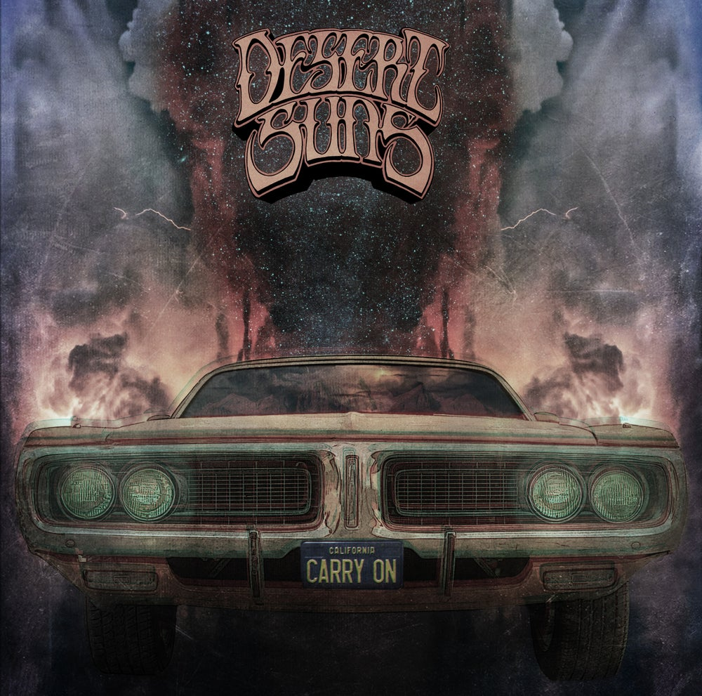 Image of  DESERT SUNS - CARRY ON LTD trasparent Yellow vinyl