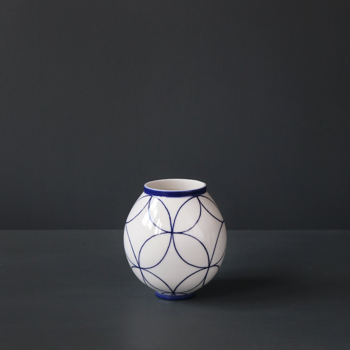 Image of 'Double Ring' Moon Jar by Rhian Malin.