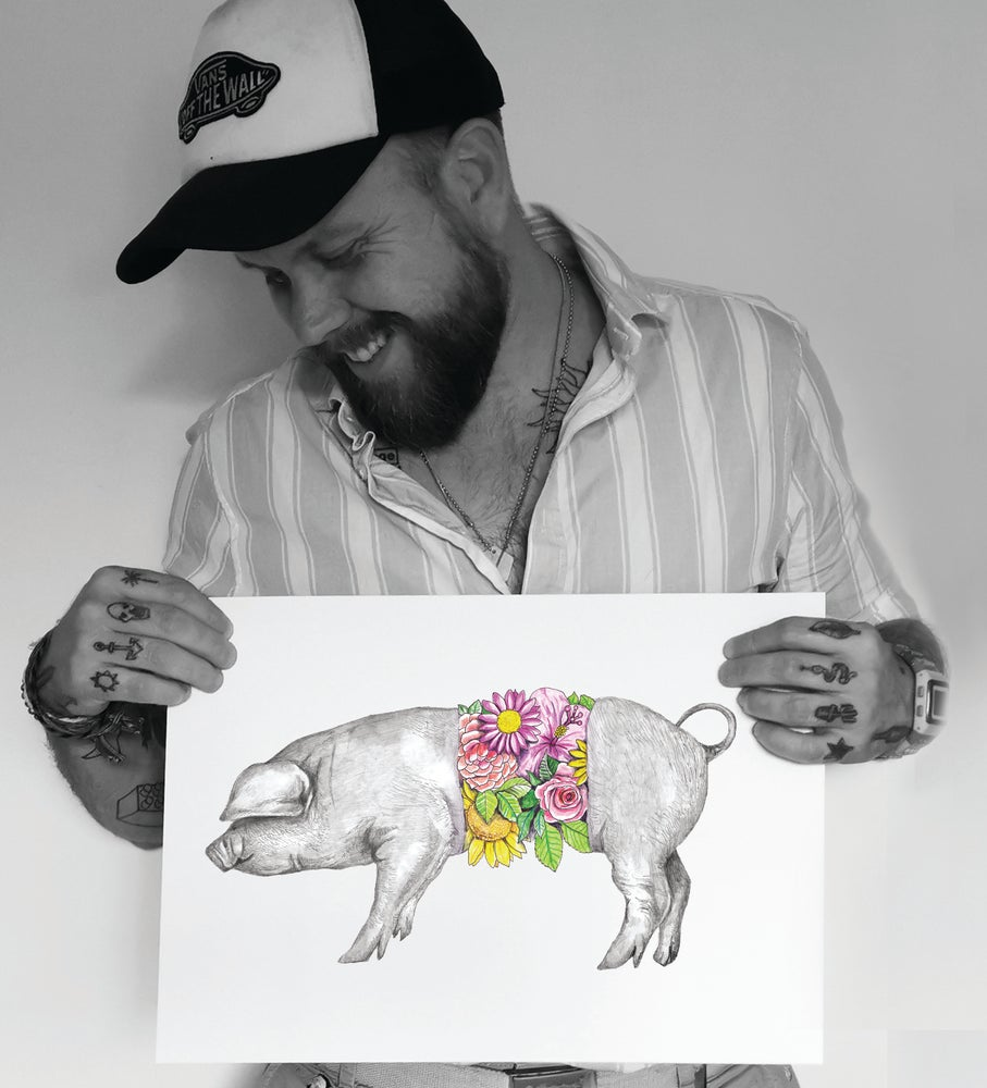 Image of SKIN DEEP - Floral Pig limited edition print
