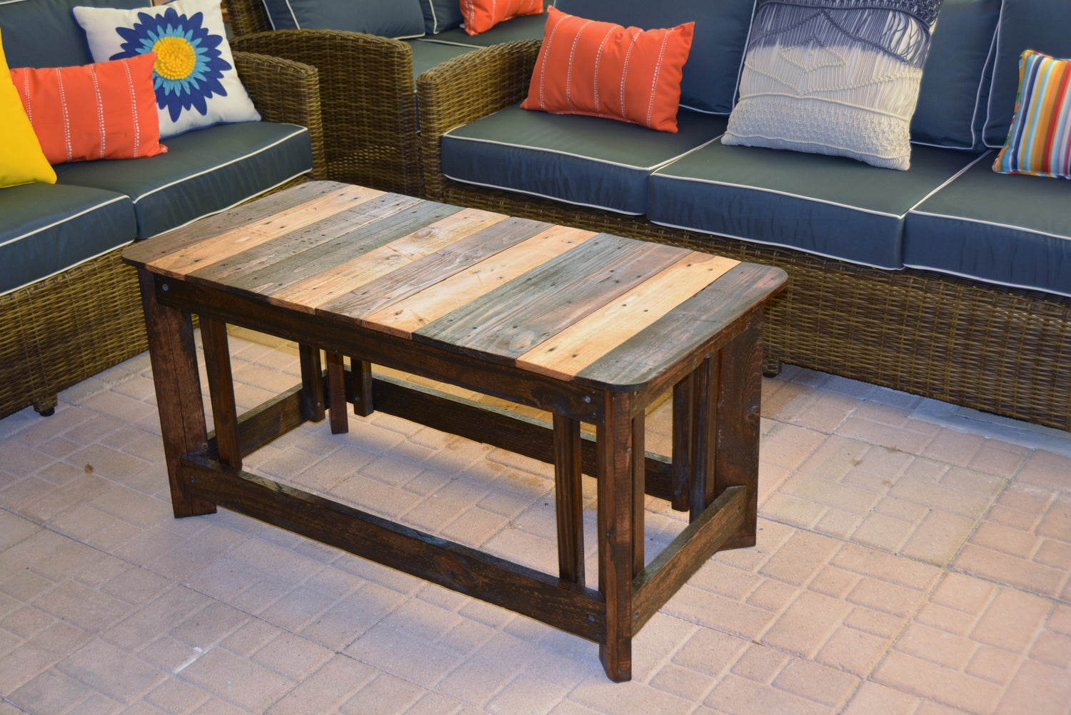 Image of Multi Stained Coffee Table