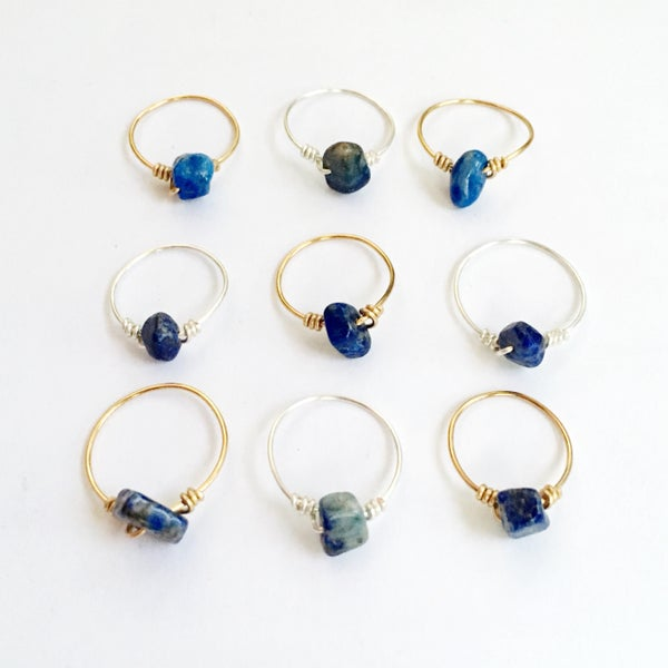 Image of Simple Lapis Lazuli Stone Ring