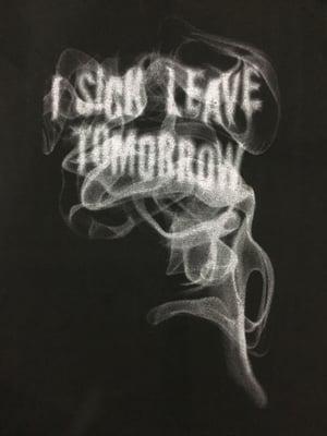 Image of ISLT Smoke Tee / Black x Silver Print