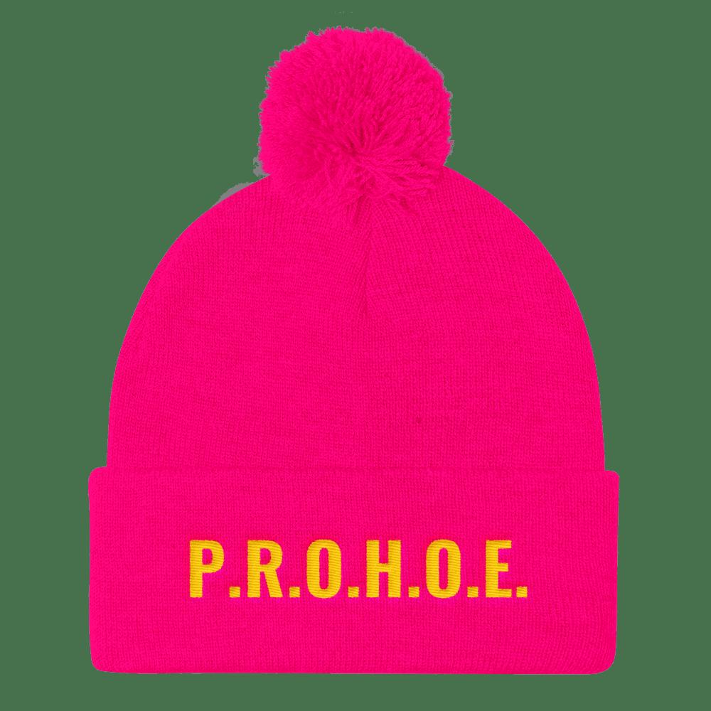 Image of Neon Pink P.R.O.H.O.E. Beanie