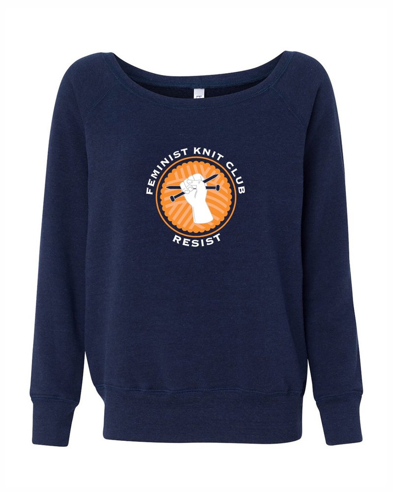 Image of PRE-ORDER Feminist Knit Club Wide Neck Sweatshirt